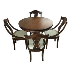 میز و صندلی  ناهار خوری چوبی اسپرسان چوب مدل sm03