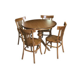 ست میز و صندلی ناهار خوری چوبی اسپرسان چوب مدل z08