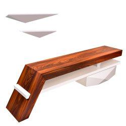 میز تلویزيون راهپود مدل آفتابگردان به همراه طبقه دیواری