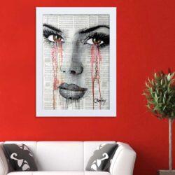 تابلو   گالری استاربوی طرح اشک و دختر مدل هنری HL318