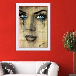 تابلو   گالری استاربوی طرح پرتره دختر مدل هنری HL314