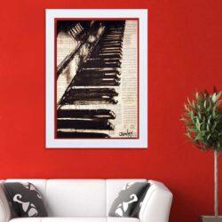 تابلو   گالری استاربوی طرح پیانو مدل هنری HL336