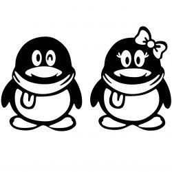 استیکر  پدیده شاپ طرح پنگوئن ها بسته 2 عددی