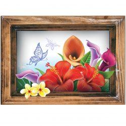 استیکر  پادری صالسو آرت طرح colorful flowers mat 02 hk