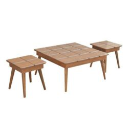 میز پذیرایی طرح پازل کد A3 مجموعه 3 عددی