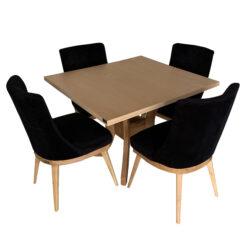میز و صندلی ناهار خوری اسپرسان چوب کد Sm49
