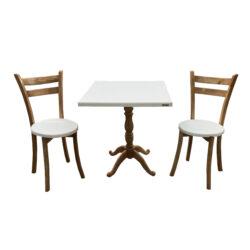 میز و صندلی ناهار خوری اسپرسان چوب کد Sm54
