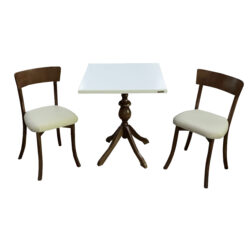میز و صندلی ناهار خوری اسپرسان چوب کد Sm55