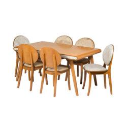 میز و صندلی ناهار خوری 6 نفره مدل کارن کد 070