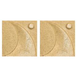 دیوارپوش تندیس و پیکره شهریار مدل آمای کد W1010-03 بسته 2 عددی
