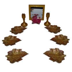 مجموعه ظروف هفت سین  ده پارچه طرح برگ