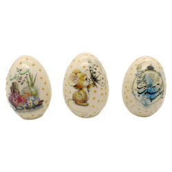 تخم مرغ تزیینی طرح سال نو کد GH-011 مجموعه سه عددی